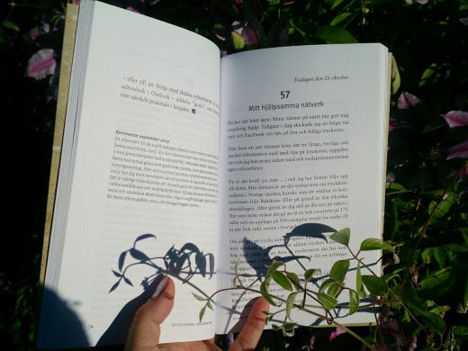 Ett uppslag i Att ge ut en bok