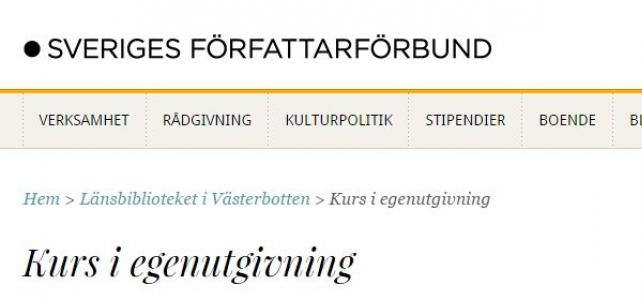 Inbjudan: kurs i egenutgivning i Umeå 20 november