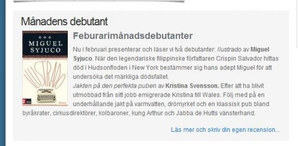 Min bok recenseras på bokdebutant.se