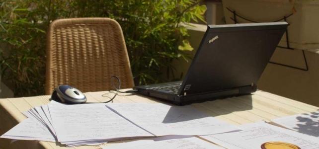 Skrivit på en ny bok i Antibes i sommar