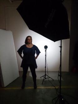 Kristina Svensson i fotostudion