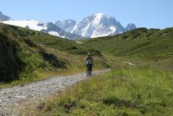 cyklist i Chamonix
