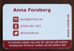 VimleAnnas visitkort
