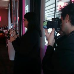Kamerateamet Sina och Maria