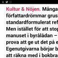 Skärmdump av artikel i Sydsvenskan 16 mars 2014