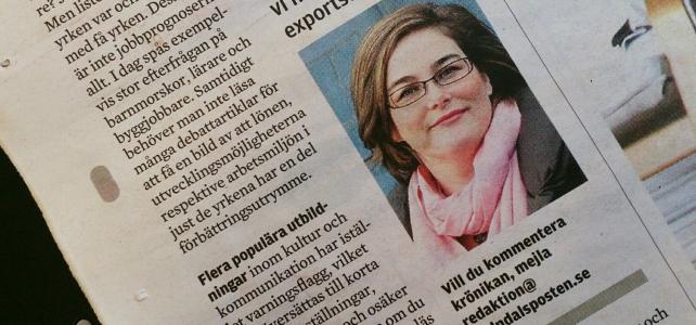 Återigen krönikör i Mölndals-Posten