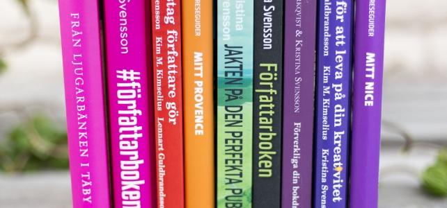 Reflektioner: färgstarka böcker, författar-varumärke och sånt