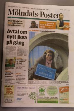 framsida Mölndals-posten vecka 3 2012