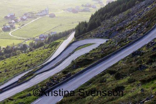 vägen ner till Hoddevik