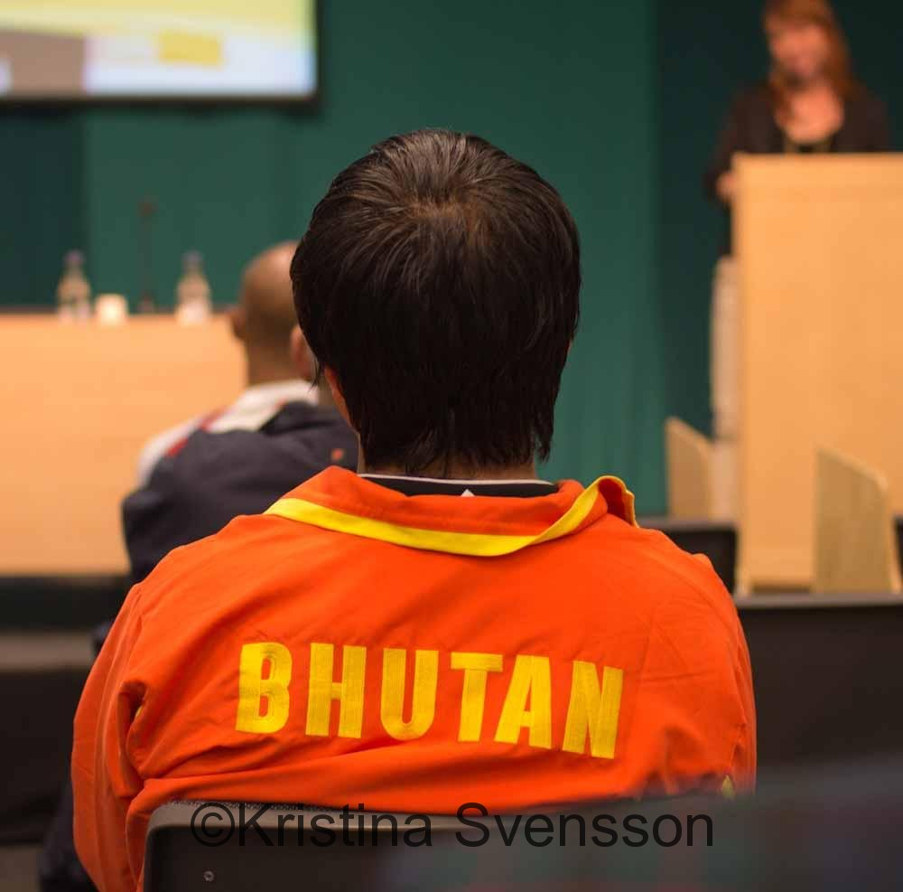 Tashi var enda deltagare från Bhutan