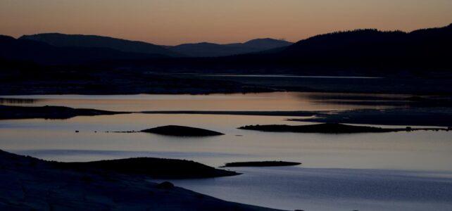 Månadens bild: solnedgång över Lossendammen